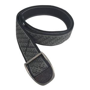 "Chaco Web Belt Basket Weave Nylon 3/4"" Wide Gray Black Pewter Buckle"